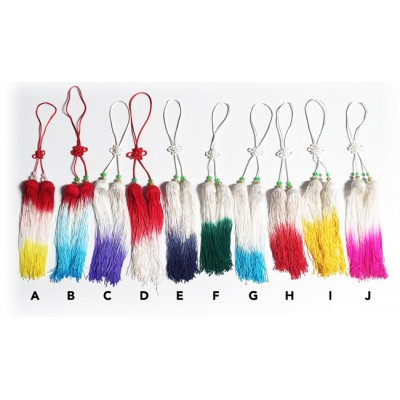 AC003-1 - Multi-Color Short Tassel -Braided