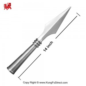 AC009 Traditional Big Stainless Steel Spear Heads _ 14 inches