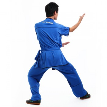 LN009-2 - Li-Ning Blue Wushu Uniform (Male) 宝蓝比赛服