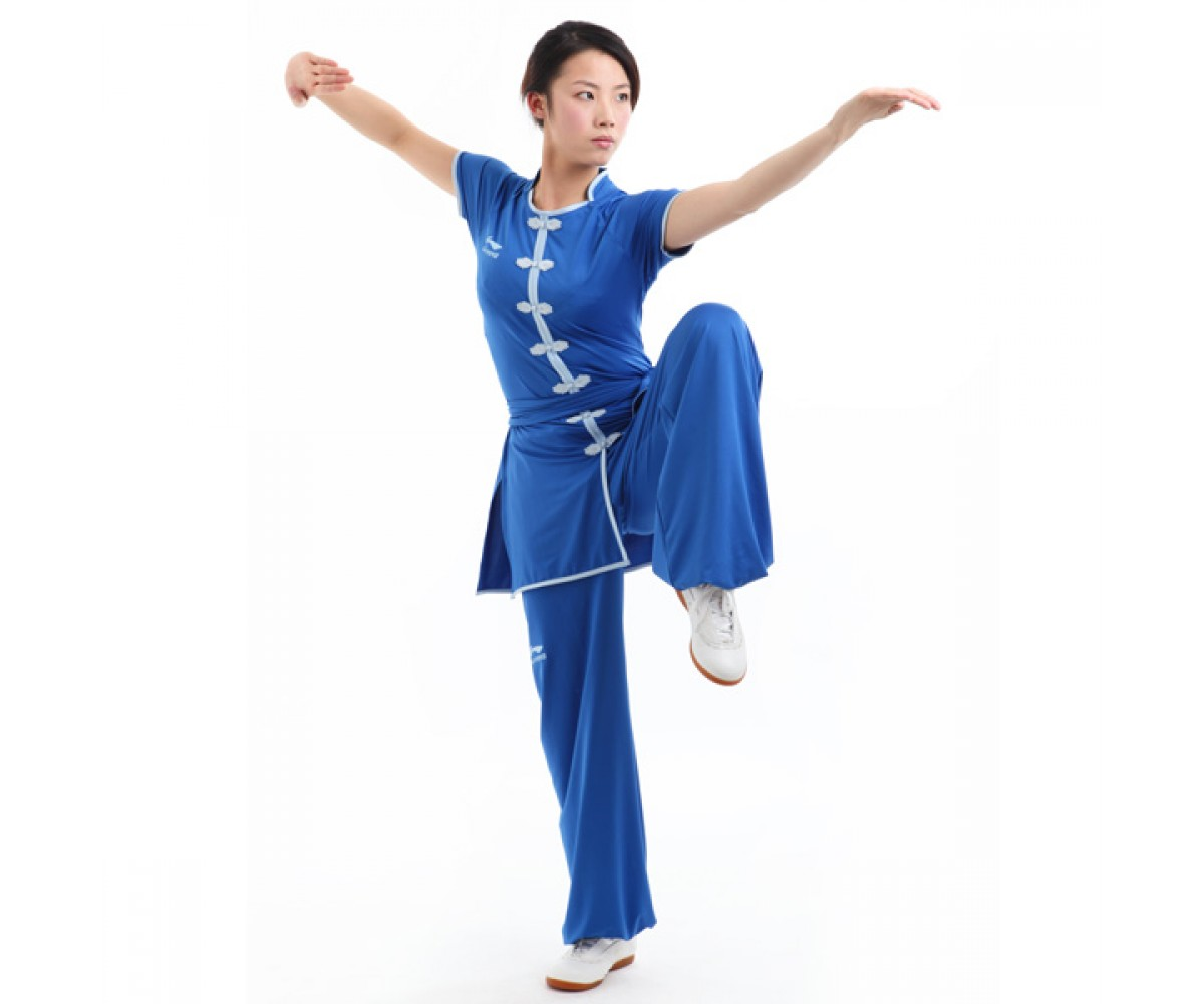 LN102-5 - Li-Ning Southern Style Uniform Blue (Female) 南派比赛服