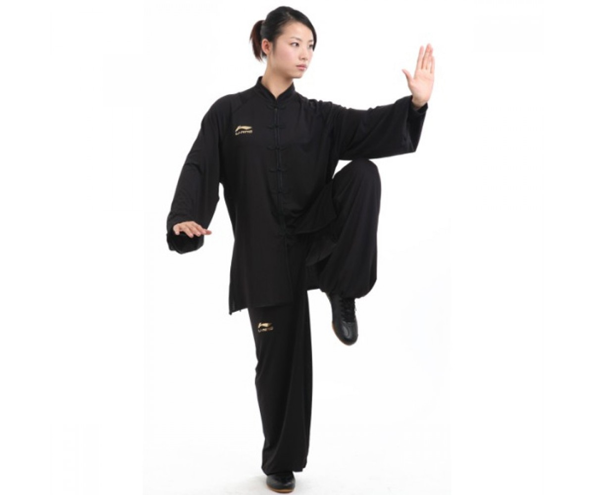 LN108-5 - Li-Ning Black Long sleeve Uniform (Female) 女子黑色长袖比赛服