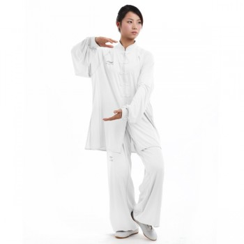 LN108-6 - Li-Ning White Long sleeve Uniform (Female) 女子白色长袖比赛服