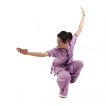 LN100-1 - Li-Ning Lavender Wushu Uniform (Female) 比赛服
