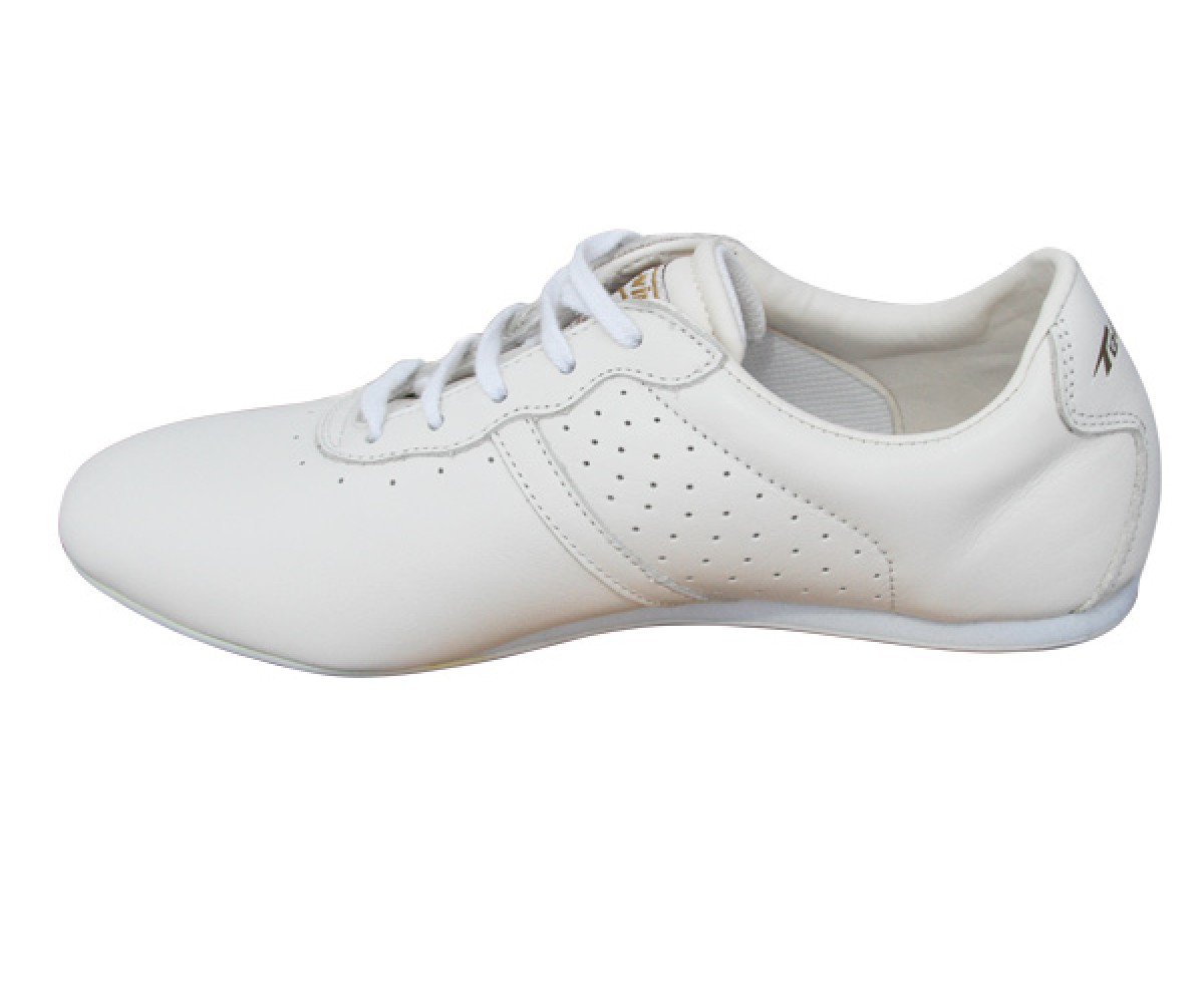 FT006-1 - NEW- TeamUp Leather Wushu Shoes - White