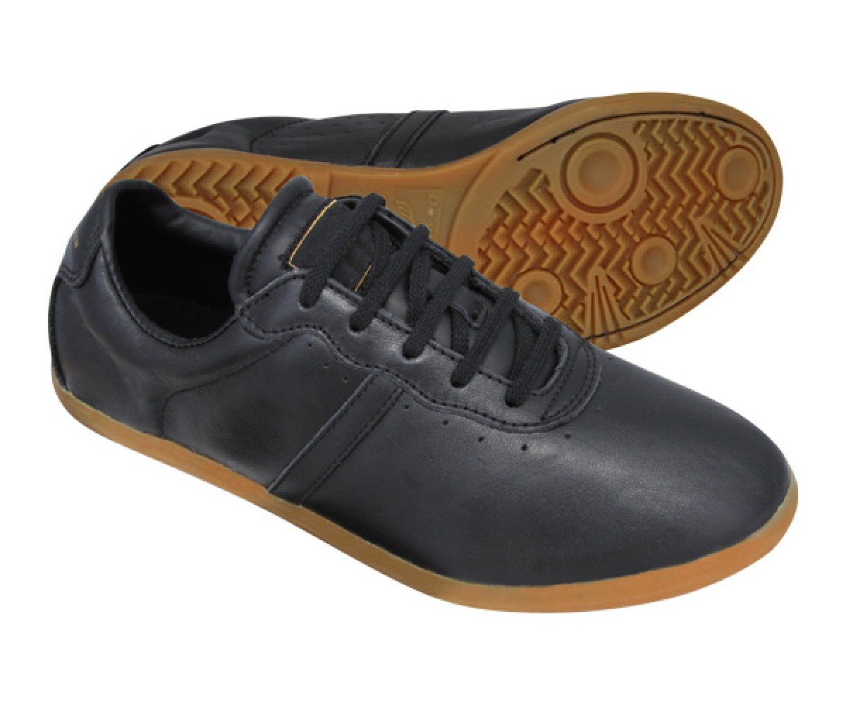 FT003-1 - TeamUp Leather Tai Chi Shoes Black(Budo Saga)