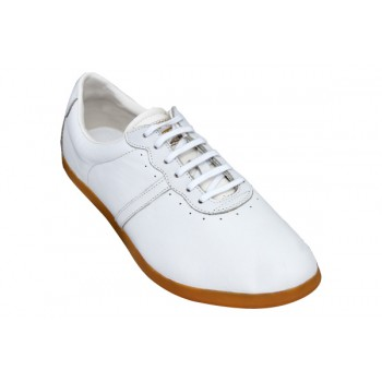 FT004 - TeamUp Leather Tai Chi Shoes - White