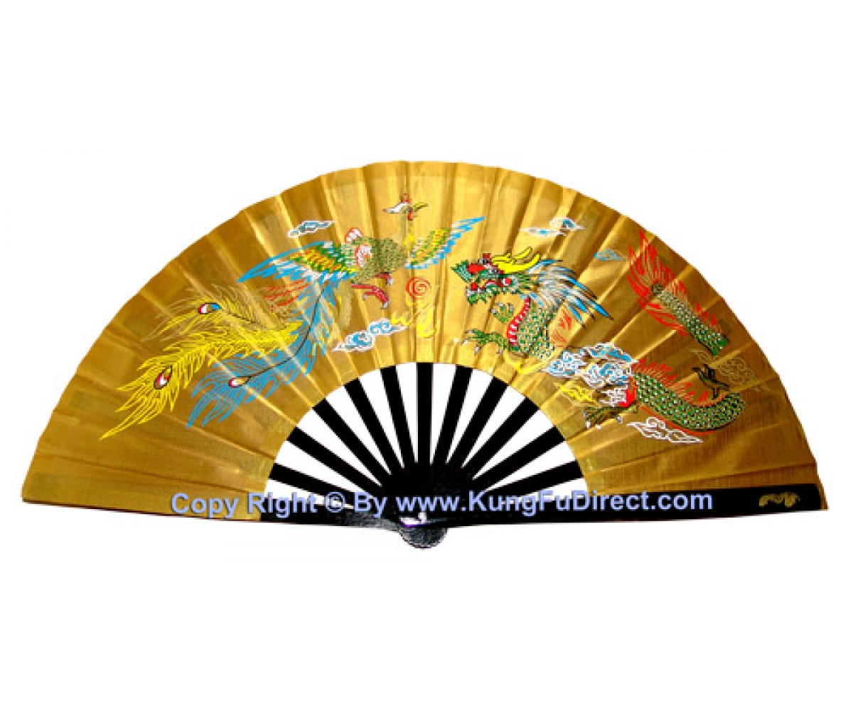 Fan04 - Dragon Phoenix Golden Fan