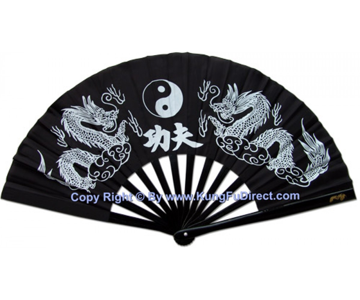 Fan08 - Black Twin Dragon Fan