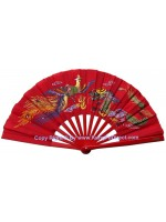 Fan09 - Dragon Phoenix Red Fan
