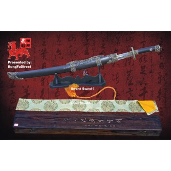 HD-208-1 - Seven Saints Sword-Red Groove pattern Damascus steel 七圣刀-红槽花纹钢