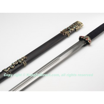 HD621 -Han Ding Both hands Sword -Water wave pattern 汉鼎花纹钢双手剑