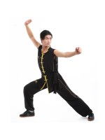 LN001-1 - Li-Ning Southern Style Uniform Black/Gold (Male)- FINAL SALE!