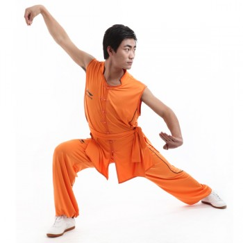 LN001-2 - Li-Ning Southern Style Uniform Orange (Male) 南派比赛服