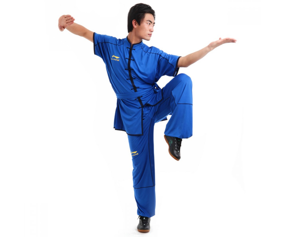 LN001-4 - Li-Ning Southern Style Uniform Blue (Male) 南派比赛服