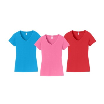 Port & Company® Ladies Fan Favorite V-Neck Tee. LPC450V