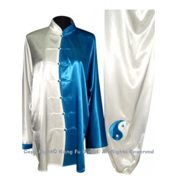 UC080 - White and Blue Uniform with Tai Chi Logo Embroidery
