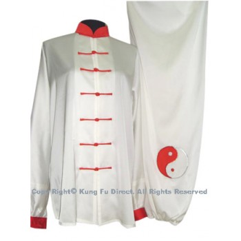 UC081 - White Uniform with Red Tai Chi Logo