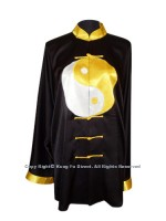 UC085 - Black Uniform with Gold Tai Chi Logo