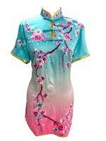 PSU001 - Light blue/pink Fade Flower Embroidery Uniform