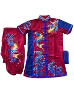 PSU030 - Red/Blue Fish Embroidery Uniform