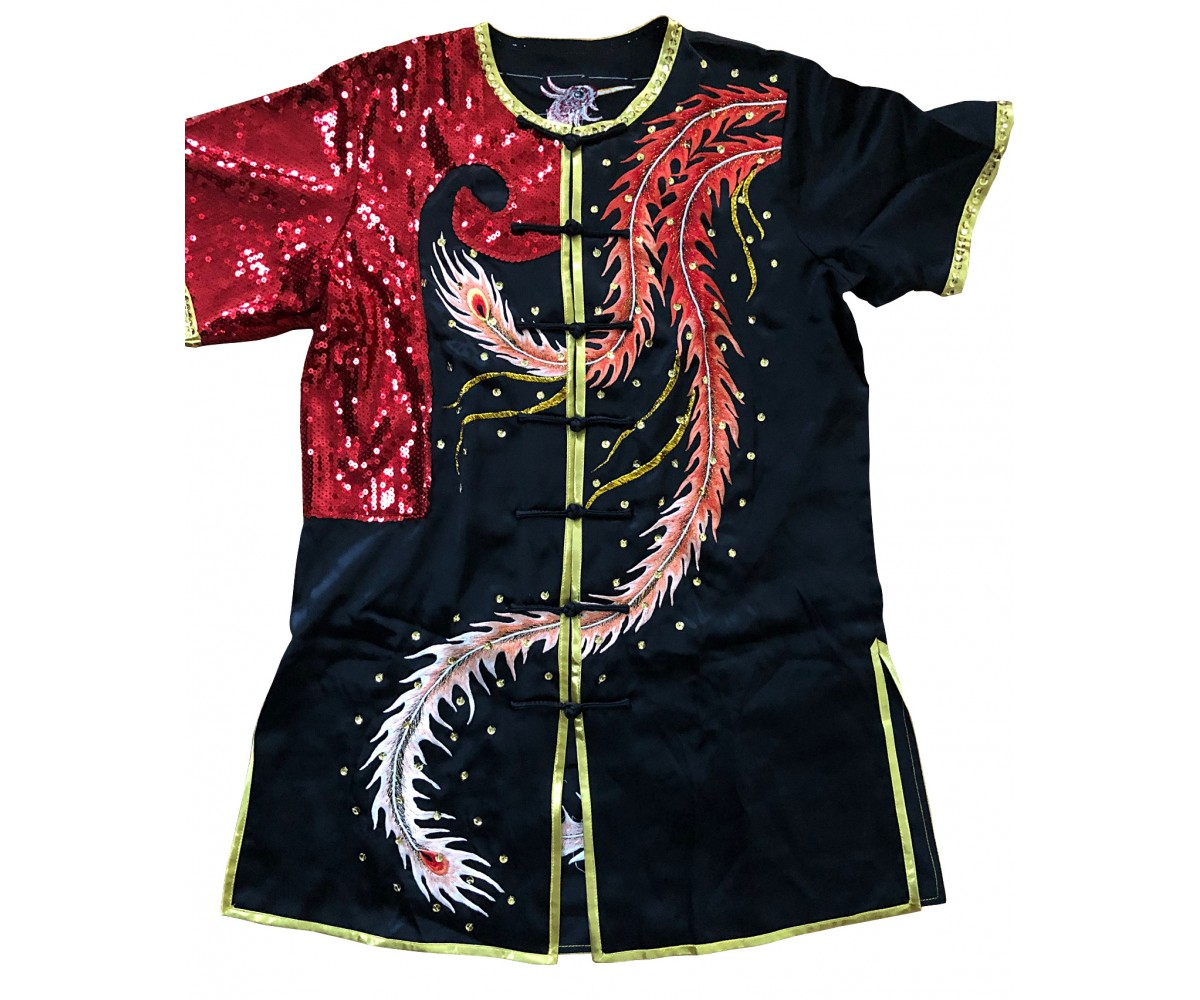 PSU032 - Red/Black Phoenix Embroidery Uniform