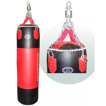 heavyleather85 - Heavy Leather Punching Bag - 85 lbs.