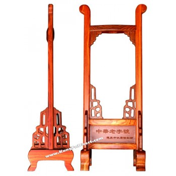 sgl-j-017 - Hand Carved Red Sandalwood Sword Stand1 - 红檀手工剑架1