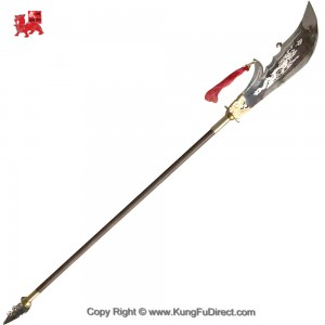 TDL002 - Wenge wood Brass Dragon Head KwandDao 鸡翅木龙头关刀