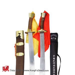 TDS003 - Double Traditional Dao with Pear Wood Scabbard