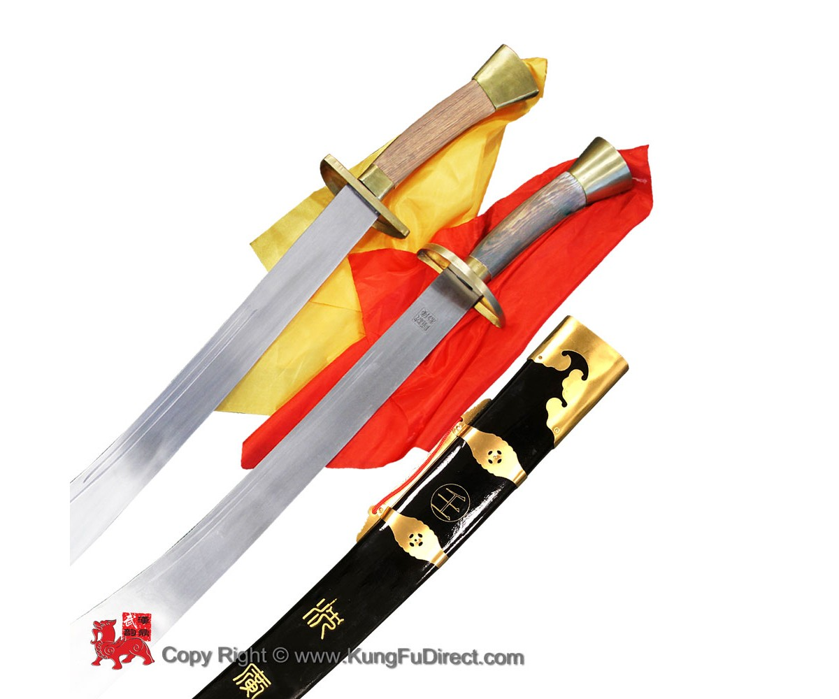 TDS011 - Double Traditional Broadsword with black scabbard