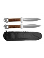 TDS057 - Wushu Double Dagger Stainless Steel Wenge Wood鸡翅木不锈钢 双匕首