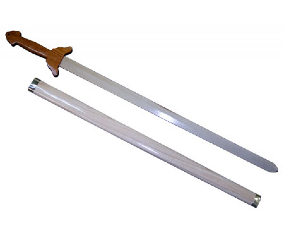 TDS080 - Wooden Straight Sword with saber