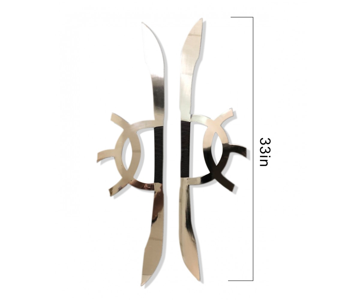 TDS120 - Moon and Sun speared sword_ Stainless Steel (pair)