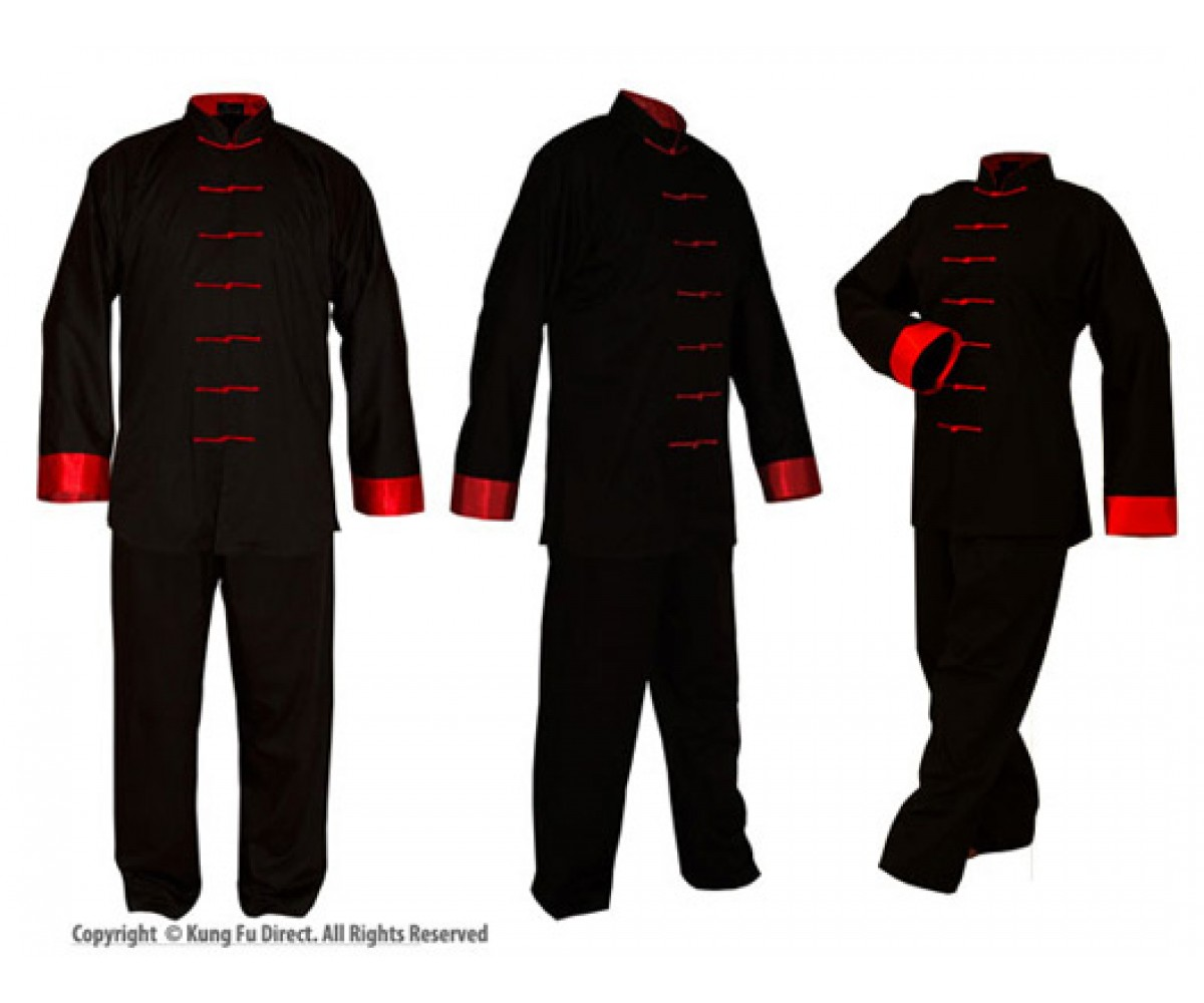 U0700 - Poly/Cotton Uniforms with Red Trim