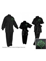 U0750-3  - Black Satin Uniform with Dragon Design