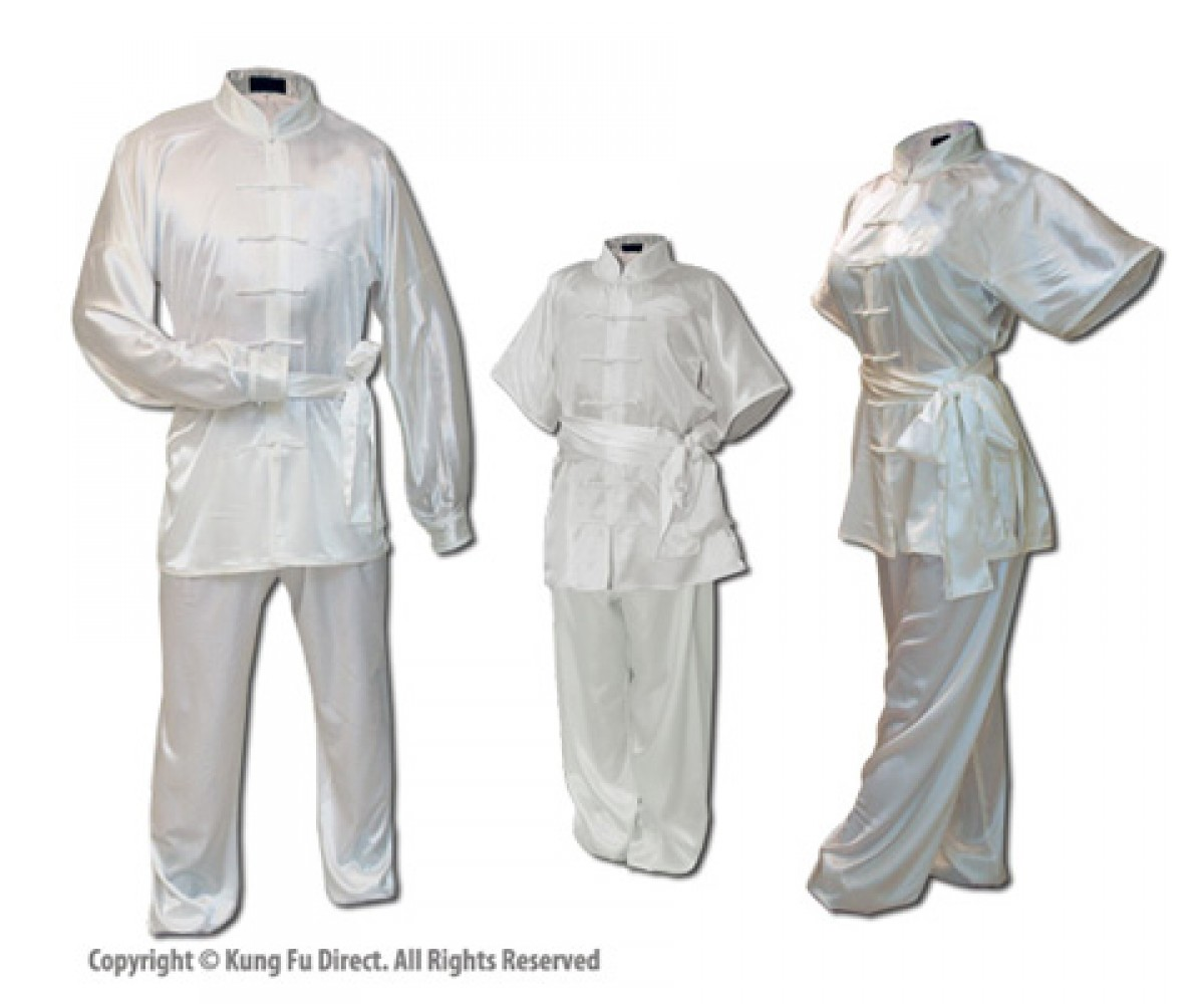 U0751 - Pearl White Satin Uniform