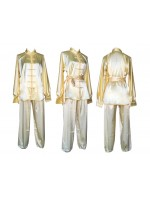 U0752-1 - Pale Yellow Satin Uniform