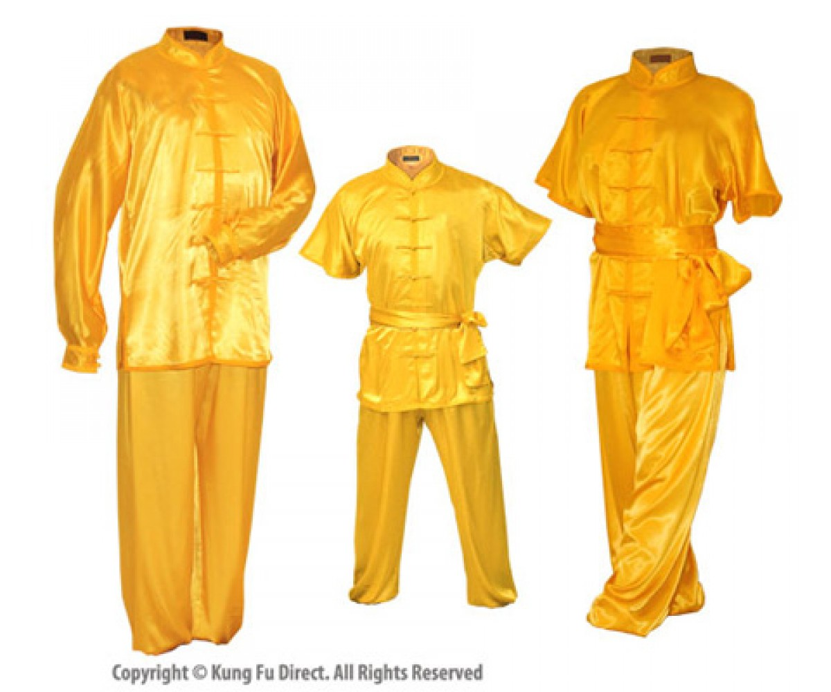 U0752 - Golden Yellow Satin Uniform