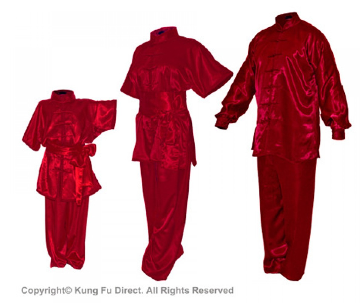 U0754 - Jujube Red Satin Uniform