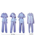 U0757 - Lavender Satin Uniform short sleeve and Long sleeve