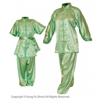 U0760 - Mint Green Satin Uniform