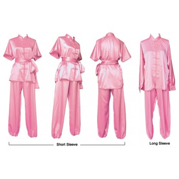U0761 - Pink Satin Uniform