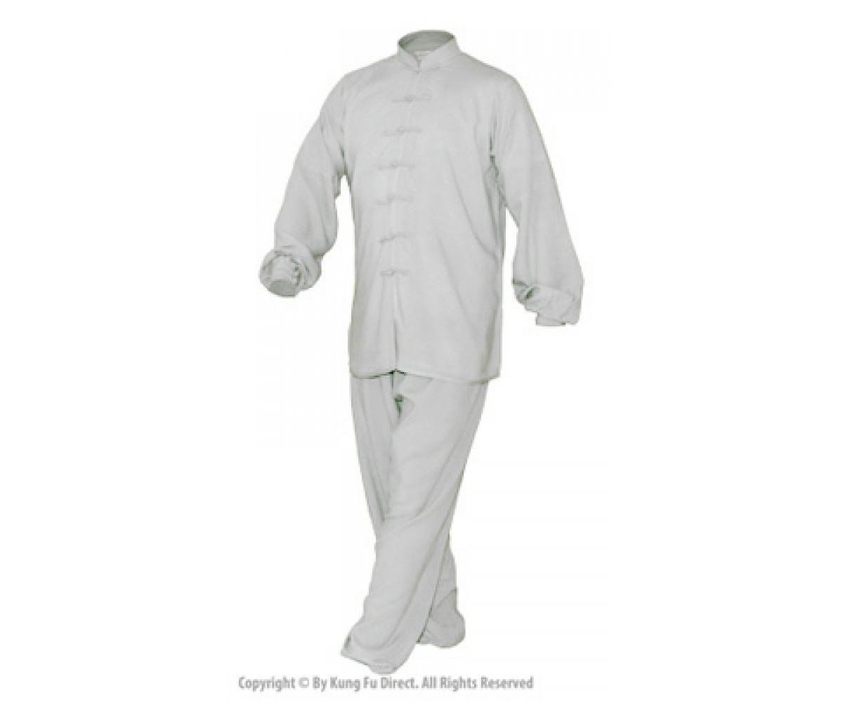 U0770-1 - White Soft Bamboo Cotton Uniform