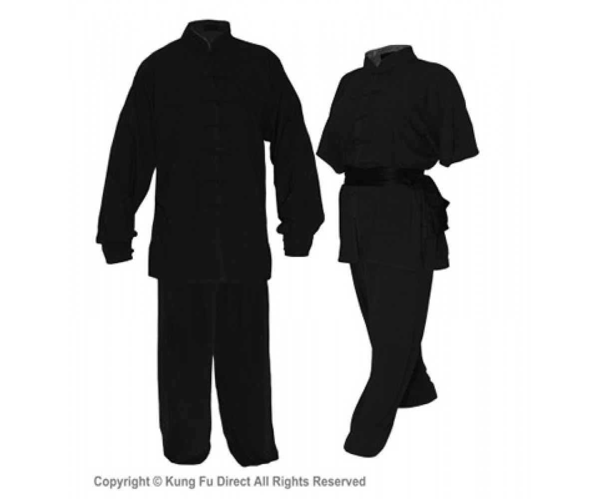 U0770 - Black Soft Cotton Uniforms(discontinued)