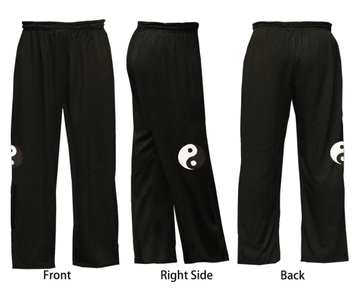 U0792-1 - TaiChi Logo Design Blended Embroidery Tai Chi Pants
