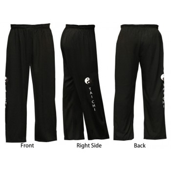 U0792-2 - Art Design Embroidery Blended Cotton Tai Chi Pants
