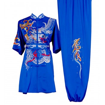 UC001 - Blue Uniform with Dragon Embroidery