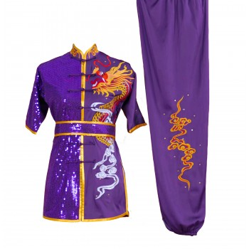 UC002 - Purple Uniform with Dragon Embroidery