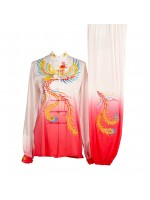 UC004 - Red/White Gradient Uniform with Phoenix Embroidery