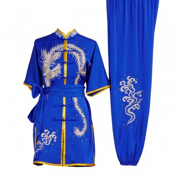 UC005 - Blue Uniform with Phoenix Embroidery